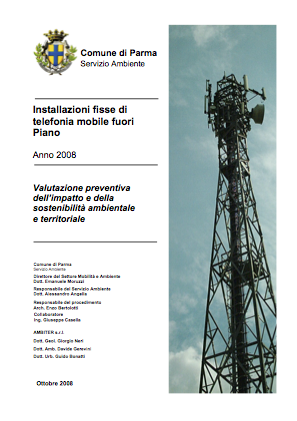copertina valutazione antenne comune di Parma